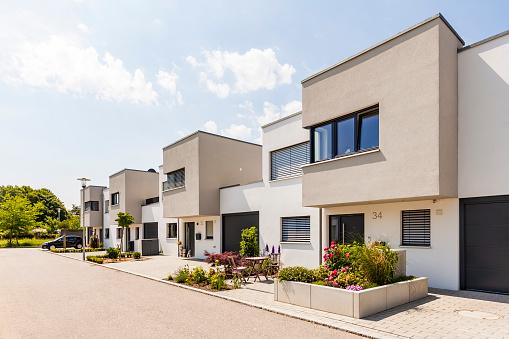 Conformity「Germany, Bavaria, Neu-Ulm, modern one-family houses, efficiency houses」:スマホ壁紙(8)
