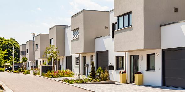 Conformity「Germany, Bavaria, Neu-Ulm, modern one-family houses, efficiency houses」:スマホ壁紙(18)
