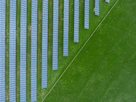 Solar Energy「Germany, Bavaria, aerial view of solar panels」:スマホ壁紙(0)