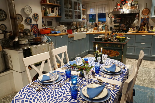 Party - Social Event「Germany, Bavaria. Typical modern country kitchen.」:スマホ壁紙(11)