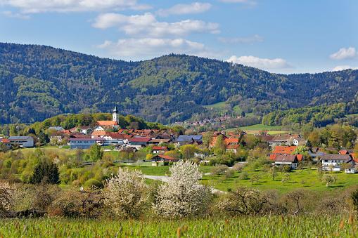 Bavarian Forest「Germany, Bavaria, Lower Bavaria, Bavarian Forest, Lallinger Winkel, village Lalling」:スマホ壁紙(7)
