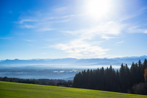 山「Germany, Bavaria, view from Hohenpeissenberg」:スマホ壁紙(2)