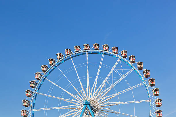 Germany, Bavaria, Munich, View of part of ferris wheel against clear sky:スマホ壁紙(壁紙.com)