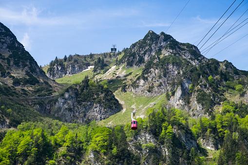 Aerial tramway「Germany, Bavaria, Chiemgau Alps, Hochfelln and Hochfelln cable car」:スマホ壁紙(6)