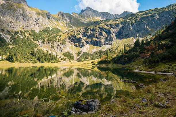 Germany, Bavaria, Allgaeu, Allgaeu Alps, Unterer Gaisalpsee:スマホ壁紙(壁紙.com)