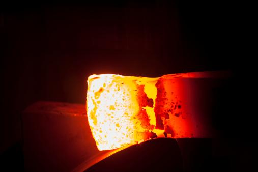 Iron - Metal「Germany, Bavaria, Josefsthal, glowing axe at historic blacksmith's shop」:スマホ壁紙(8)