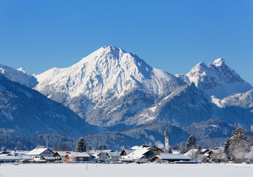 雪山「Germany, Bavaria, View of Tannheim Mountains」:スマホ壁紙(16)