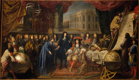 Painted Image「Colbert Presenting The Members Of The Royal Academy Of Sciences To Louis Xiv In 1667」:写真・画像(2)[壁紙.com]
