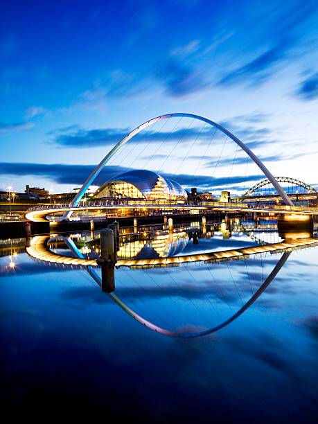 Gateshead Millennium Bridge connecting Gateshead and Newcastle upon Tyne, 2008:ニュース(壁紙.com)
