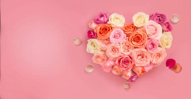 Pastel colour heart shape bouquet.:スマホ壁紙(壁紙.com)