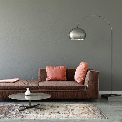 Template「Pastel colored sofa with blank wall template」:スマホ壁紙(19)