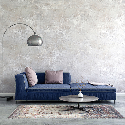 Template「Pastel colored sofa with blank wall template」:スマホ壁紙(18)