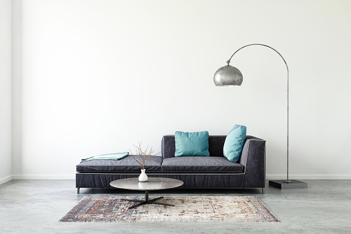 Electric Lamp「Pastel colored sofa with blank wall template」:スマホ壁紙(16)