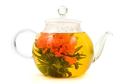 Teapot「Blooming, Flowering Tea in Glass Teapot」:スマホ壁紙(18)