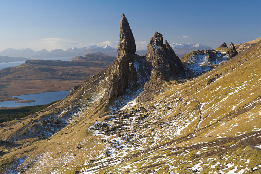 スコットランド文化「UK, Scotland, Isle of Skye, Trotternish Peninsula, Old Man of Storr」:スマホ壁紙(17)