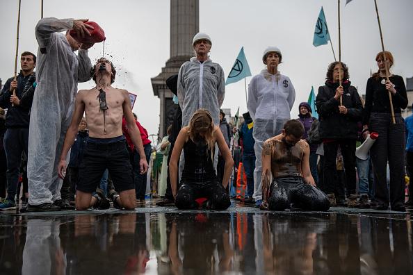 Trafalgar Square「Extinction Rebellion Climate Change Action In London」:写真・画像(19)[壁紙.com]