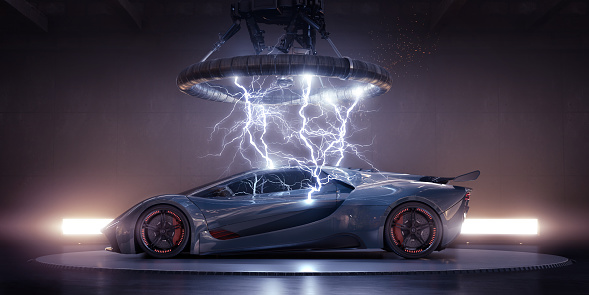 Workshop「Electric Sports Car Struck By Electrical Lightning From Coil」:スマホ壁紙(15)
