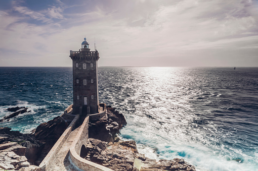 France「France, Brittany, Pointe de Kermorvan, Le Conquet, lighthouse Phare de Kermorvan」:スマホ壁紙(12)