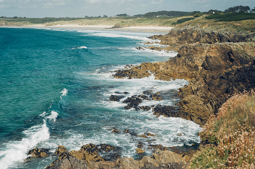 Brittany - France「France, Brittany, Pointe de Kermorvan, Le Conquet」:スマホ壁紙(6)