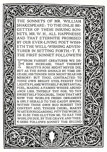 Text「Riccardi Press: Page From Sonnets Of Shakespeare Circa 1914」:写真・画像(15)[壁紙.com]