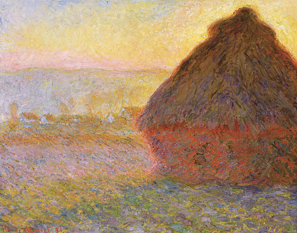 風景(季節別)「Grainstack (Sunset) 1891」:写真・画像(8)[壁紙.com]
