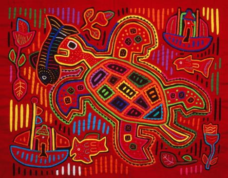 Indigenous Culture「Fabric Mola,craft of the Kuna Tribes,San Blas,Panama」:スマホ壁紙(7)