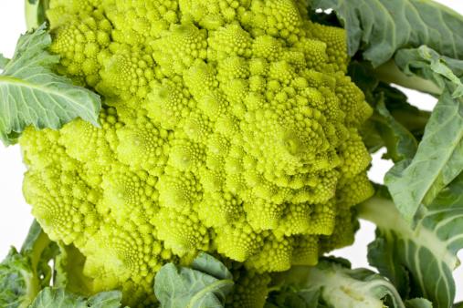 Crudite「single romanesco vegetable isolated on white」:スマホ壁紙(14)