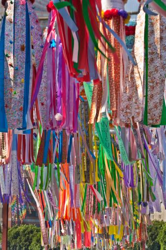 七夕「Tanabata banners and origami cranes」:スマホ壁紙(11)