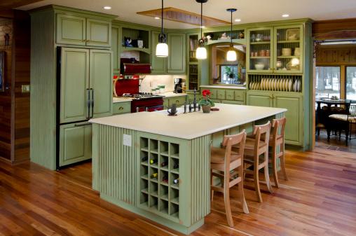 Model Home「Lime green modern kitchen.」:スマホ壁紙(12)