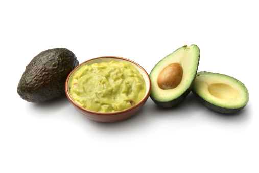 Avocado「TexMex Food: Guacamole and Avocado Isolated on White Background」:スマホ壁紙(4)