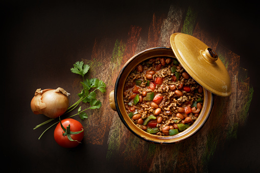 Chili Con Carne「TexMex Food: Chili Con Carne Still Life」:スマホ壁紙(16)