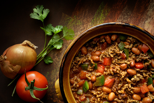 Chili Con Carne「TexMex Food: Chili Con Carne Still Life」:スマホ壁紙(11)