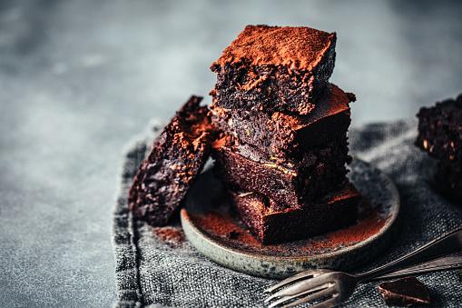 Nut - Food「Delicious chocolate zucchini brownies」:スマホ壁紙(18)