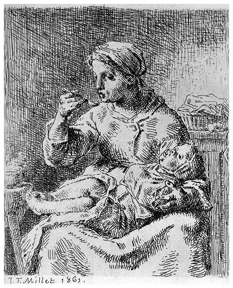 Jean Francois Millet「'La Bouillie', 1861 (1924). Artist: Jean Francois Millet」:写真・画像(19)[壁紙.com]