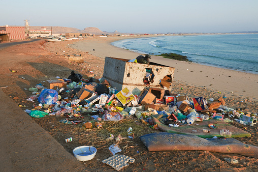 インド洋「Beach polluted with waste」:スマホ壁紙(17)