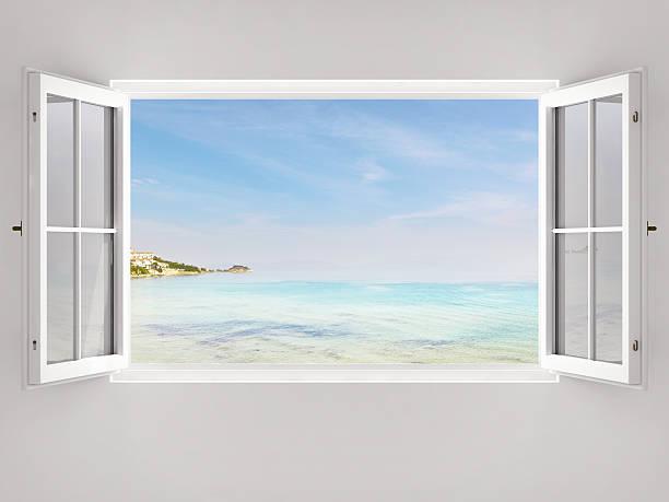 Open Window With Ocean View:スマホ壁紙(壁紙.com)