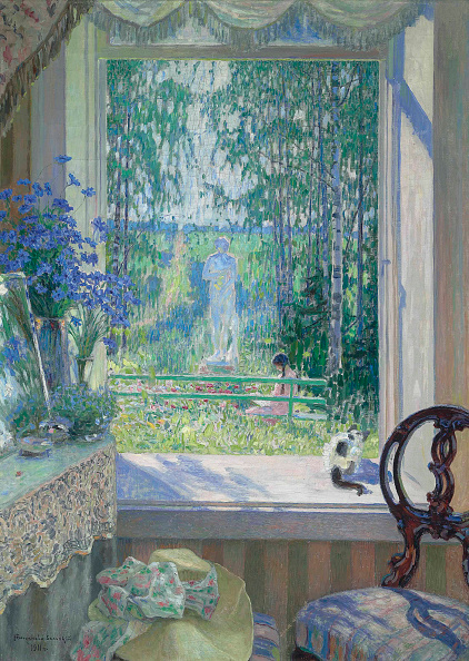 Oil Painting「Open Window Onto A Garden」:写真・画像(3)[壁紙.com]