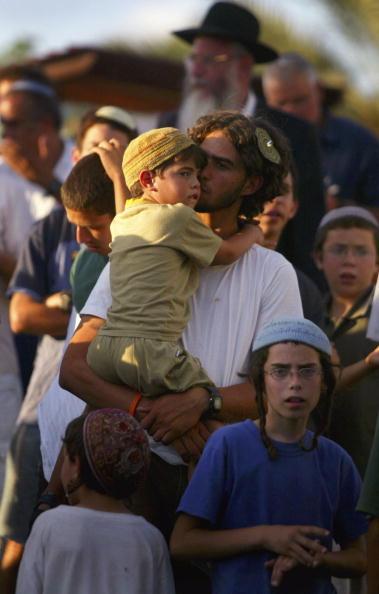 Skull Cap「Settlers Hold A Mass Prayer Against Disengagement」:写真・画像(9)[壁紙.com]