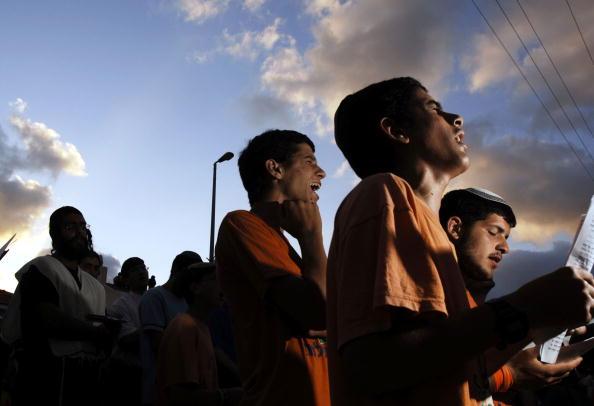 Skull Cap「Settlers Hold A Mass Prayer Against Disengagement」:写真・画像(7)[壁紙.com]