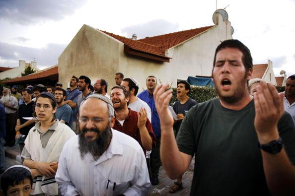 Skull Cap「Settlers Hold A Mass Prayer Against Disengagement」:写真・画像(8)[壁紙.com]