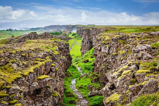 Basalt「Thingvellir National Park Continental Divide Iceland Þingvellir」:スマホ壁紙(13)