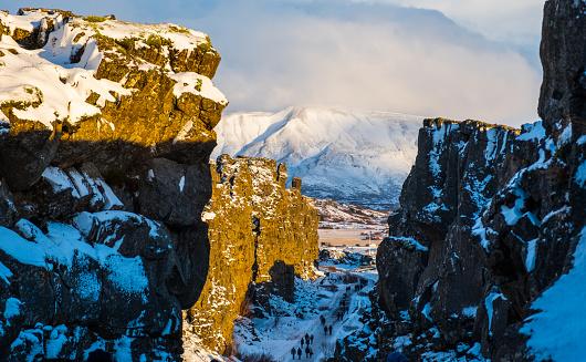 地質構造「アイスランドシングヴェトリル国立公園」:スマホ壁紙(16)