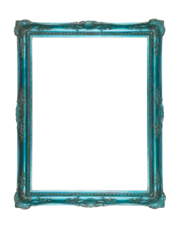 Turquoise Colored「A Psychedelic Blue-Green Frame」:スマホ壁紙(9)