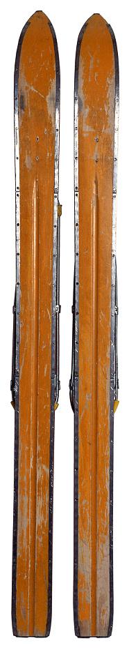 スキー「Old skis」:スマホ壁紙(1)