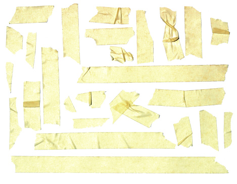 Masking Tape「Assorted Masking Tape Pieces」:スマホ壁紙(9)