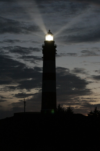 島「Amrum Lighthouse at night」:スマホ壁紙(15)