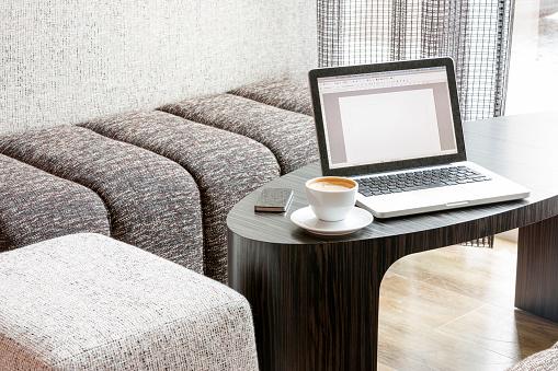 Stool「Poland, Warsaw, espresso cup at lounge of hotel」:スマホ壁紙(2)