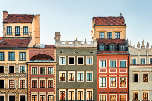 UNESCO World Heritage Site「Poland, Warsaw, town houses in the old town」:スマホ壁紙(3)