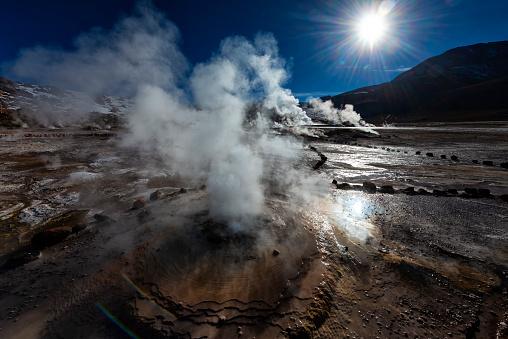 Volcanic Landscape「Volcanic area - Geyser - El Tatio - Geothermal energy」:スマホ壁紙(1)
