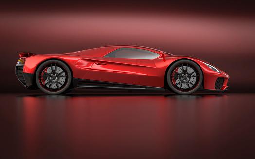 Sports Car「Side profile of sleek, modern super car」:スマホ壁紙(6)